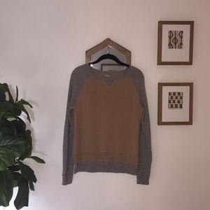 Grey and tan Halogen cashmere sweater